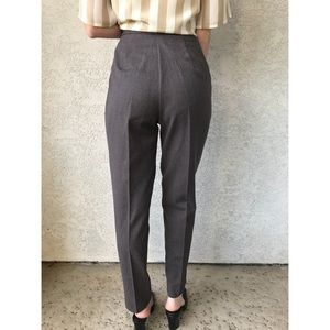 [vintage] ultra high waist grey wool trousers